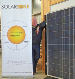 Brian Sharpe of Solarzone shows the benefits of harnessing solar power