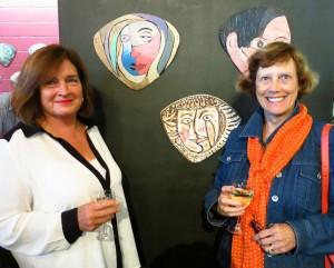 Denise Gibson congratulates Lady Deane