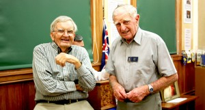 Two of Otaki Rotary's favourite characters reminisce