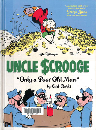 """Walt Disney's Uncle Scrooge """"only a Poor Old Man"""" book cover"""