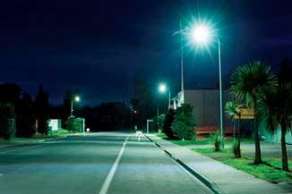 LED lights on Miro Street
