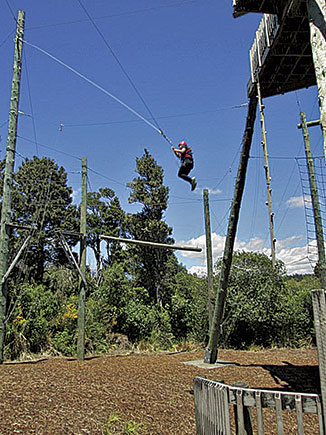 Francesca Flaws on the high ropes