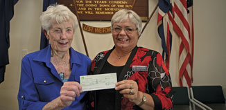RSA poppies cheque  photo: Athol Corbett