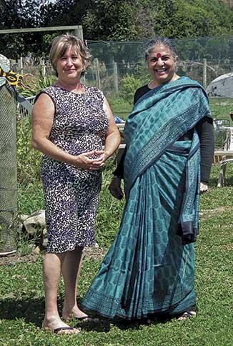 Vandana Shiva and food matters Aotearoa organiser Clare Bleakly