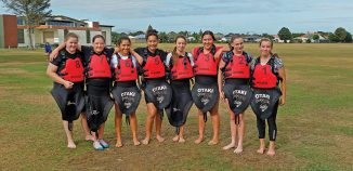 Junior girls canoe polo team