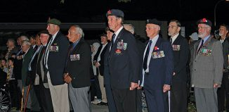 Returned servicemen at the Dawn Parade