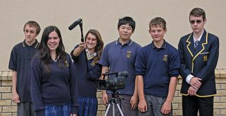 Otaki College year 11 and 12 digital technology class film makers
