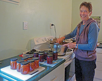 Barbara Harford-Silas at Jam Central with her artisan preserves