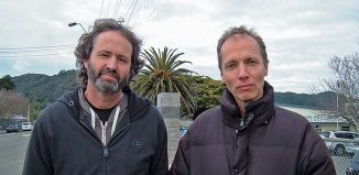 Mike Joy and Nicky Hager( Click for full size)