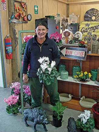 Don Watson in the shop