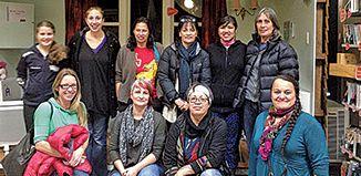 Back row: Maizy Metekingi, Bianca Tahere, Merle Metekingi, Whiona Epiha Newport, Te Atawhai Kumar, Toni Thatcher. Front: Andrea Rosser, Sustainability Facilitator Michelle Whale, Pauline Wilson, Roimata Baker