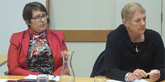 Ōtaki Ward Councillor Penny Gaylor (left) and Community Board member, Christine Papps.