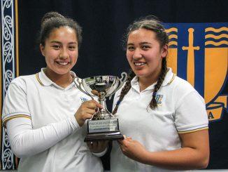 Jubilee Cup winners Telesia Nelson-Latu and Rosana Kata