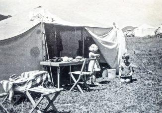 Home made camp stools.