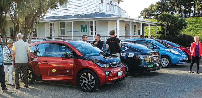 A BMW, another Tesla and a Nisan Leaf gave interested people a silent journey